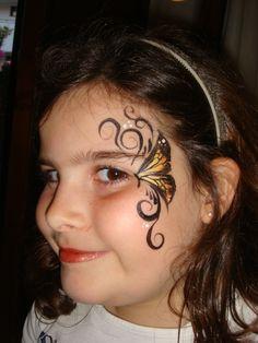 butterfly face design