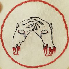 """Leslie Dorcus  4""""x4"""" embroidered patch"""
