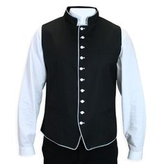 Buckingham Vest - Black/White, Gentleman's Emporium