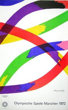 Dorazio, Piero - Olympia 1972 - Farblithografie - erste Auflage 1971