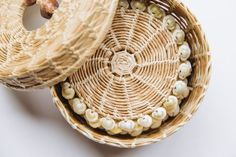 Woven Flax & Shell Coasters | the common room store