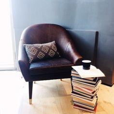 Beckett Leather Chair #readingchair #mywestelm #westelm