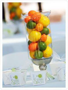 3 fruit centerpiece