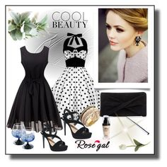 """""""Cool Beauty/ Rosegal 32"""" by rose-99 ❤ liked on Polyvore featuring Crate and Barrel, Reiss, modern and vintage"""