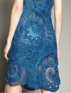 Oscar de la Renta crochet dress