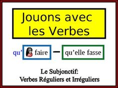 French Verb Form Writing Practice Activity: Regular and Irregular Subjunctive
