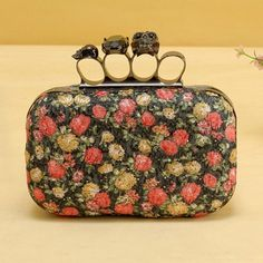 Woman Embroidery Flower Clutch Bag Shoulder Bag with Skull Diamond - 24/11/2012 - New Arrival