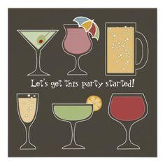 {Fun} Cocktails Custom Invite