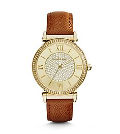 Catlin Pavé Gold-Tone Watch