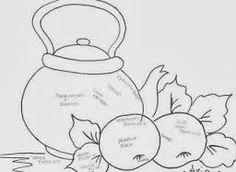 Resultado de imagem para riscos para pintar pano de prato