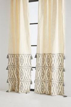 Slide View: 1: Embroidered Devanne Curtain