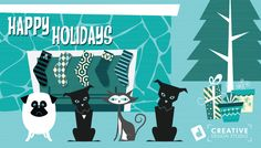 Happy Holidays from David Jacob Duke Creative Design Studio Duke, Happy Holidays, Creative Design, Families, David, Studio, Poster, Art, Art Background