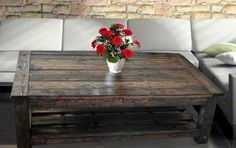 reclaimed wood coffee table etsy - Google Search