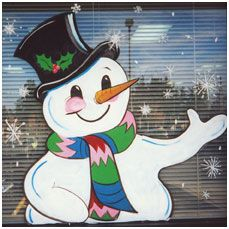 Holiday Window Painting Ideas | ... during the holidays with a custom window painting window painting
