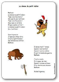 Berühmt Chanson La danse du petit indien de Michel Agneray - Paroles  KL67