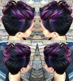 Highlighted Pixie Hair