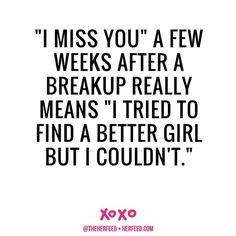I MISS YOU - 21 Lessons to Help You Survive a Breakup #love #breakup #quotes