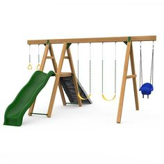 Mesa Gold - Ready To Assemble Playground Swing Set, Swing And Slide, Indoor Playhouse, Hybrid Design, Play Houses, Gold, Dollhouses, Yellow