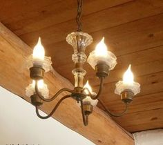 10 DIY Home Decor Tricks: Upcycled Chandelier Ruffles