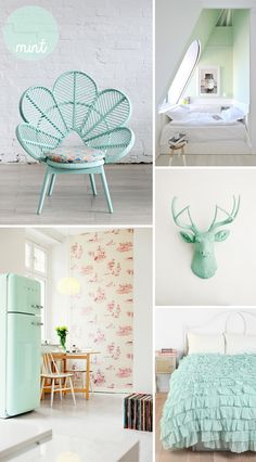 From the kitchen to the bedroom, inspiration on how to add mint decor into your home