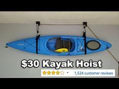 $30 Kayak Hoist: Garage Storage Solution