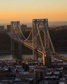 Fort Lee, Washington Heights, Hudson River, George Washington Bridge, New Jersey, Happy Friday, Bridges, New York City, Sea
