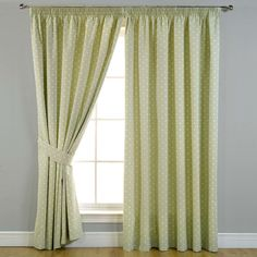 Dotty Sage Green Pencil Pleat Blackout Curtains