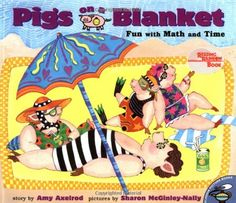 Pigs on a Blanket (Pigs Will Be Pigs) by Amy Axelrod  http://www.amazon.com/gp/product/0689822529/ref=as_li_tl?ie=UTF8&camp=1789&creative=9325&creativeASIN=0689822529&linkCode=as2&tag=kampkinde07-20&linkId=5YNNSWU7KA4WTIND