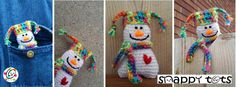 Free crochet pattern. Countdown to Christmas with snappy tots.