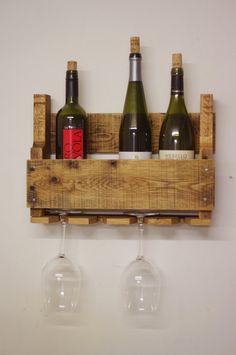 Estante de vino de plataforma de madera de roble muebles