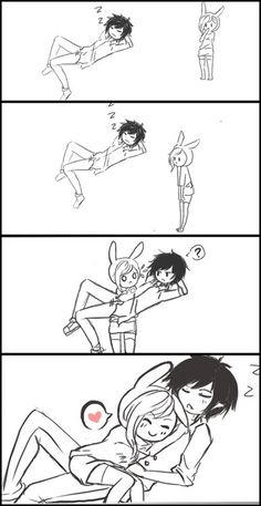 Adventure time - Fionna and Marshall Lee - I don't like adventure time but this is soo cute Adventure Time Anime, Marshall Lee Adventure Time, Marshall Lee Anime, Adveture Time, Jake The Dogs, Fan Art, Cute Comics, Cute Anime Couples, Anime Love