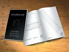straight staircase drawings