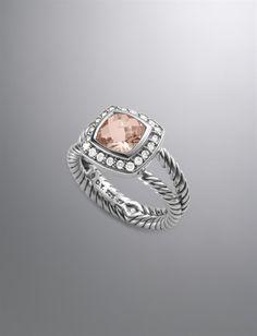 David Yurman Petite Albion Ring in Morganite