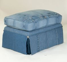 Old Jeans Recycled With Antique Style Furniture By LegendBlues : TreeHugger