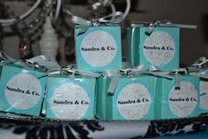 Tiffany Party Favors #tiffany #partyfavors