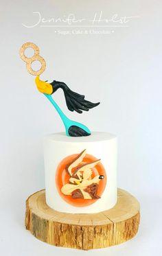 Roadrunner & Coyote Birthday Cake by Jennifer Holst Sugar Cake & Chocolate