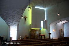 Interior of The Chapel of St. Ignatius in Seattle. Designed to accentuate the light. Very appropriate, no?
