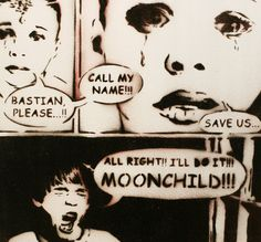 MOONCHILD The Neverending Story Movie Artwork Comic Book Style 12 x 12 Art Painting on Wood Graffiti and Pop Art Inspired on Etsy, $55.00