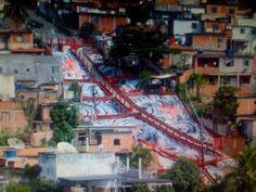community street art in a favela in Brazil