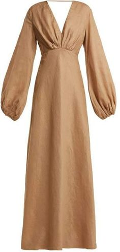 Great for Kalita Utopia balloon-sleeve linen maxi dress Womens Dresses from top store Pop Fashion, Hijab Fashion, Fashion Dresses, Before Wedding, Beach Wear Dresses, Women Wear, Textiles, Clothes For Women, Outfits