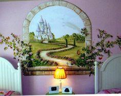 /fantasy castle mural idea as seen on www.findamuralist.com