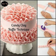 Candy Clay Ruffle Technique