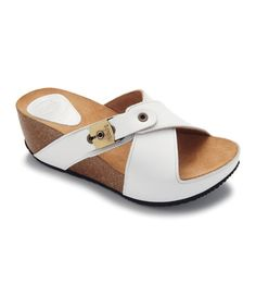 Take a look at this Off-White Elon Platform Slide by Scholl Contemporary by Dr. Scholl.  Just ordered.