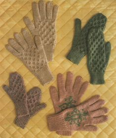 PDF Cabled and Fair Isle Gloves & Mittens Knitting Pattern : Children . Womens . Winter Knitting . Instant Digital Download by PDFKnittingCrochet on Etsy