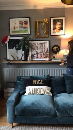 Gallery wall styling with a Christmas twist.