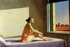 HOPPER Morning Sun (Sole di mattina) - 1952 Olio su tela 71,4 x 101,9 cm.