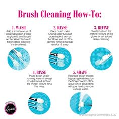 Brush cleaning how-to using the Sigma Spa™ Brush Cleaning Glove! http://www.sigmabeauty.com/Sigma_Spa_Brush_Cleaning_Glove_p/bc001.htm?click=246498