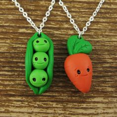 Peas and Carrot Best Friend Necklace