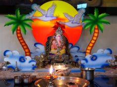 Trupti and Abhay Mahajan home Ganapati CA