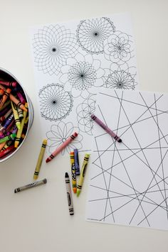Free Printable Giant Coloring pages - perfect for summer boredom!!